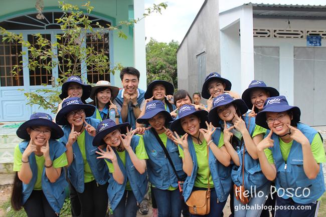 POSCO Vietnam Volunteers Build Love Houses and IT Room