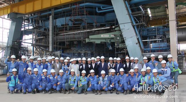POSCO Board Members Visit Krakatau POSCO Steelworks Construction Site in Indonesia