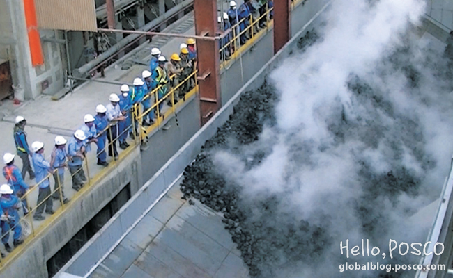 Indonesia Integrated Steelworks manufactures its first coke