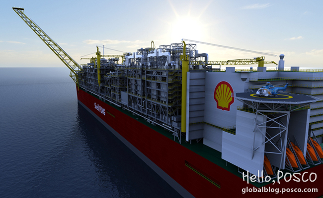 POSCO supplies all thick plates for Shell's LNG development project