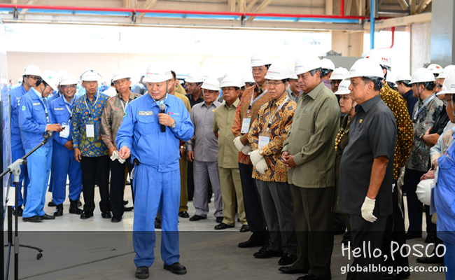 Krakatau POSCO, beginning operations of Southeast Asia's first integrated steelworks in Indonesia