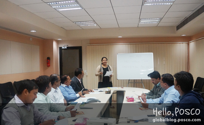 Cross-cultural activities at POSCO-India by organizing Korean Language Class for local employees