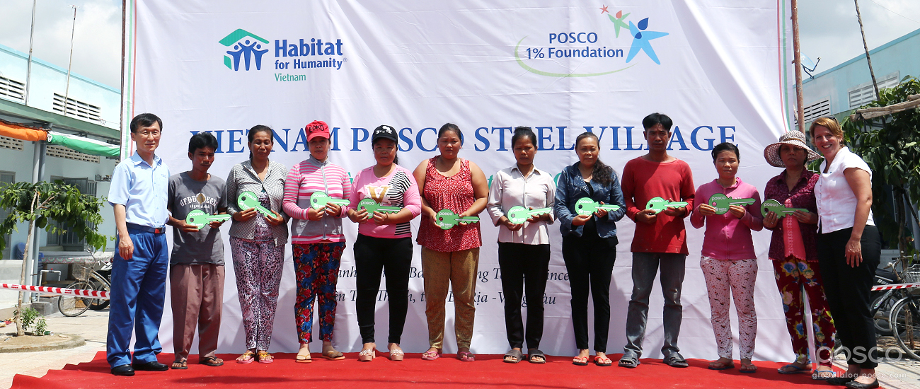 POSCO's Global Volunteers Spend a Warm-Hearted