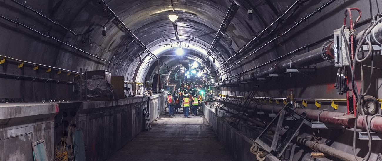 Second Avenue subway tunnel, May 21, 2015. (Photo courtesy of MTA)