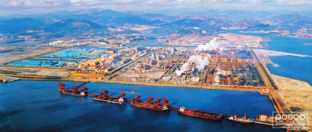 Gwangyang Works is Korea's second steel mill. Seen here in 1992.