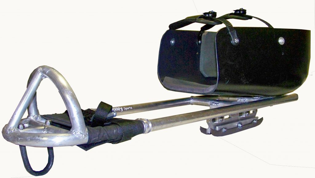 Sledges for para ice hockey, made of aluminum or steel, are set on two blades usually made of tempered steel.