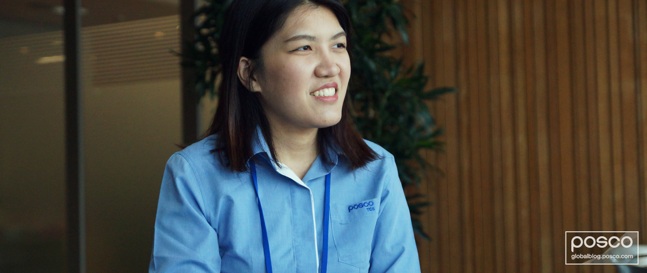 Piyakun Boonmee (HR) explains POSCO's commitment to quality for its customers.