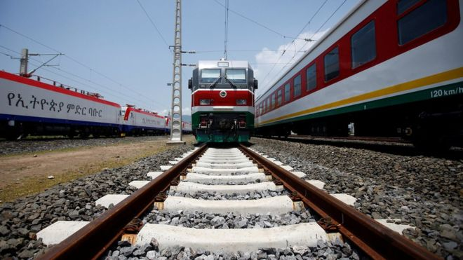 Ethiopia and Djibouti's first fully electrified cross-border railway links Ethiopia's capital, Addis Ababa, to the Red Sea port of Djibouti - a stretch of more than 750km (466 miles).
