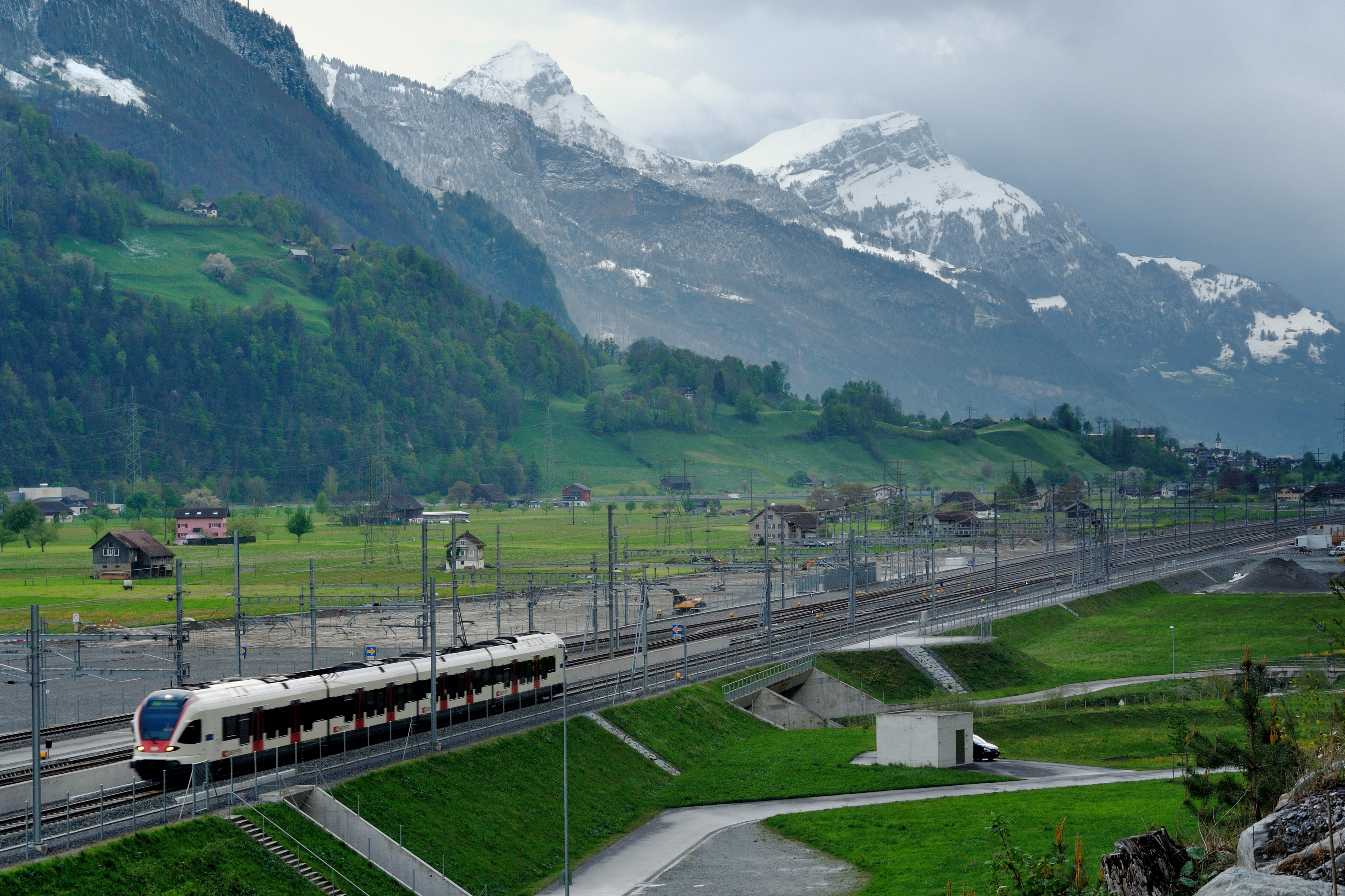 The Gotthard Base Tunnel (GBT) in Switzerland constitutes the first flat route through the Alps.