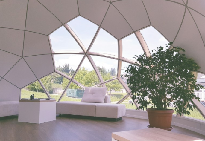 The Slovenian-designed Smartdome can be assembled, disassembled and moved anywhere across the nation.