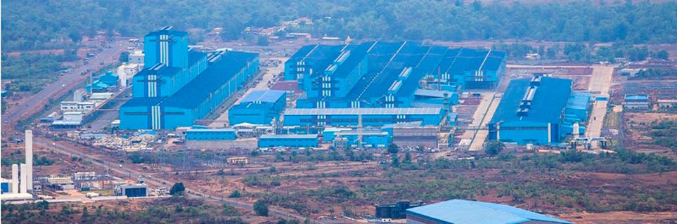 A bird's eye view of the POSCO Maharashtra Plant in India