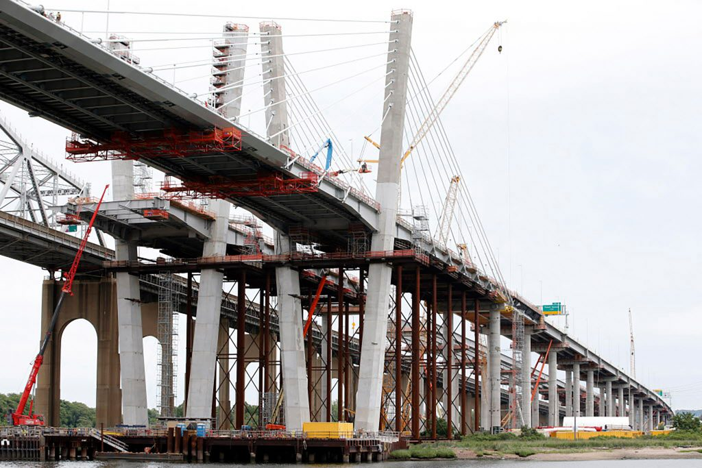 The Goethals Bridge that connects Elizabeth, NJ to Staten Island under reconstruction