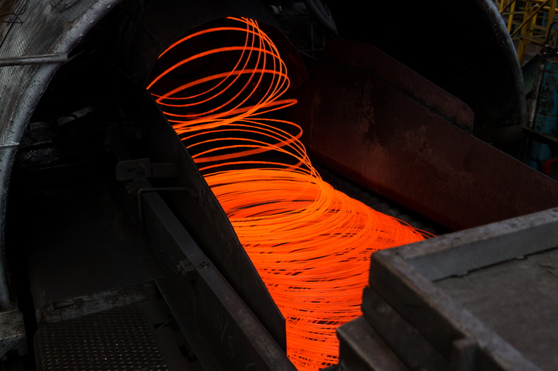 POSCO's wire rods during the production process.
