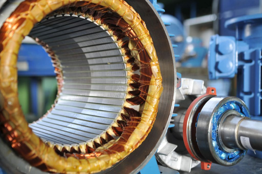 The inside of an electric motor.