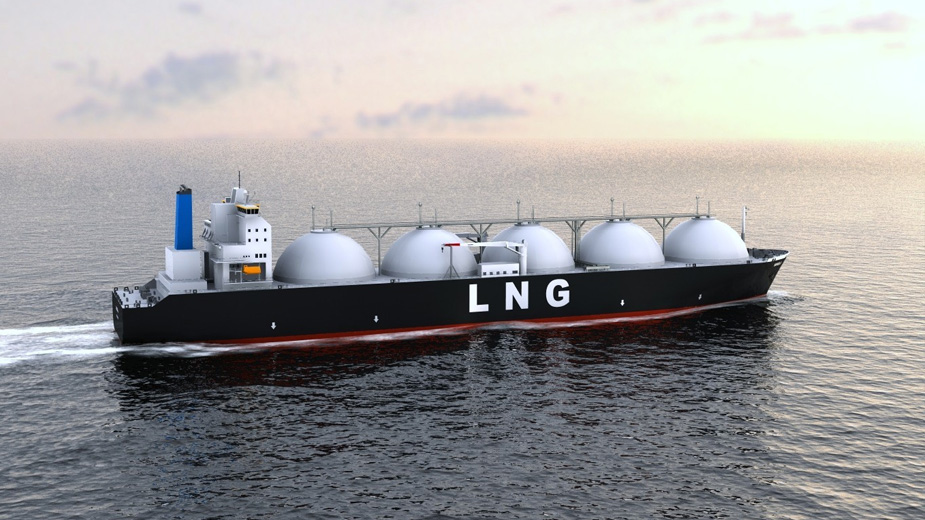 An LNG carrier floating on the ocean.