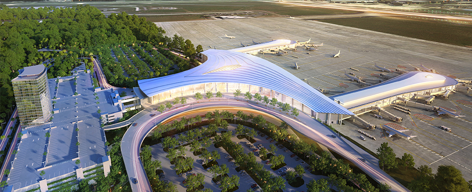 What the North Terminal will look like upon completion.