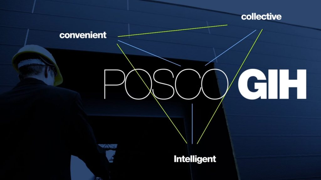 Infographic of POSCO's Global Information Hub.