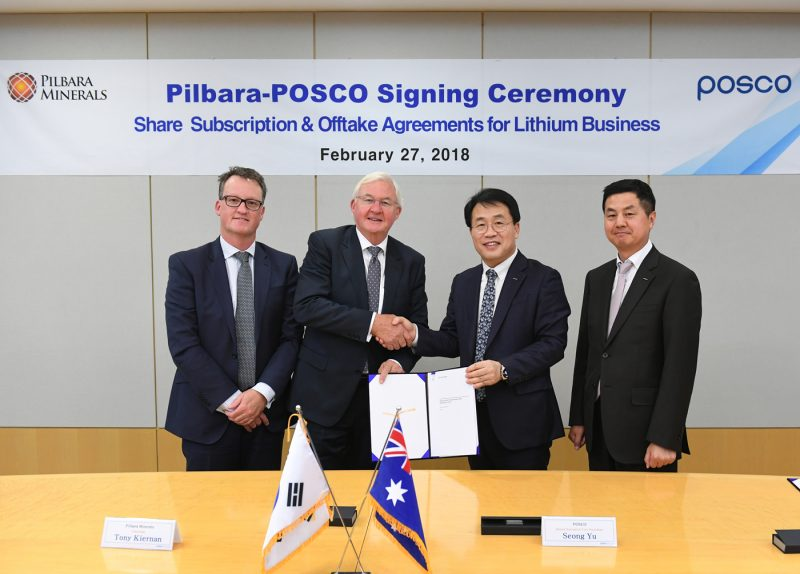 POSCO made official contract for acquiring lithium, future energy source