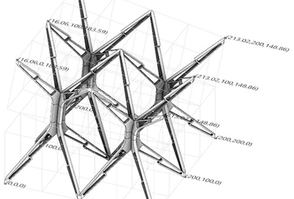 SIMS: Snap-Interlock Module System – 스냅 연동 모듈. 다섯 개의 모듈이 하나의 단위로 구성되어 차곡차곡 쌓이는 구조(사진 출처: 디오 이노 건축 사무소).