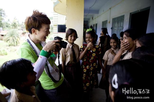 ▲ G마켓 해외봉사단 사진특기자 선발. 인도파견 당시 사진