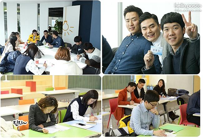 분석 및 발표(AP)면접, 심리적성 면접, 임원 면접 등 다양한 관문에서 치열한 경쟁하고 있는 신입사원들의 모습