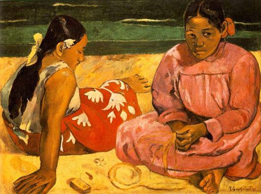 폴 고갱의 '타히티의 여인들'