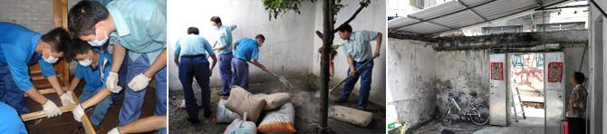 광동순덕포항강판 직원들은 회사 인근 독거노인 대상으로 주거환경개선 봉사에 나섰다