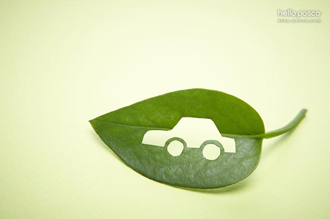 자동차 모양으로 구멍이 나 있는 나뭇잎