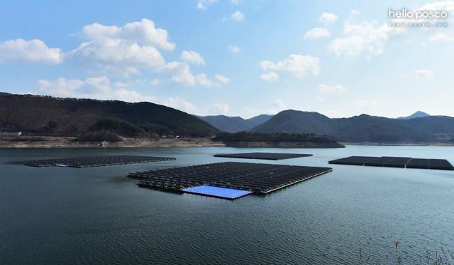 포스코 고내식강 포스맥이 사용된 보령댐 수상태양광발전소
