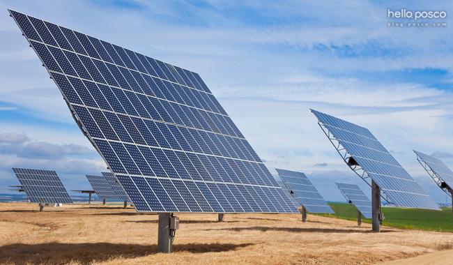 태양광 발전기들