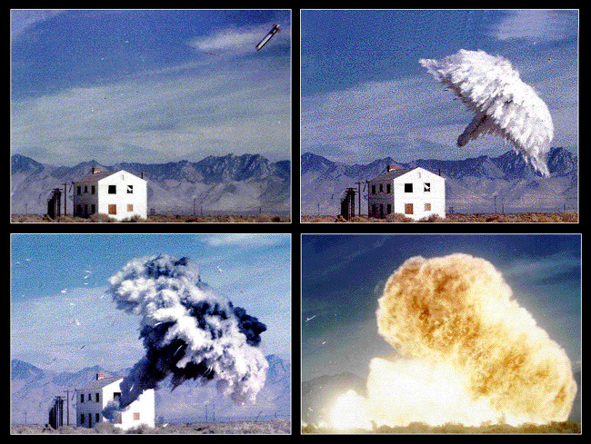 미군의 열압력탄 폭발 장면