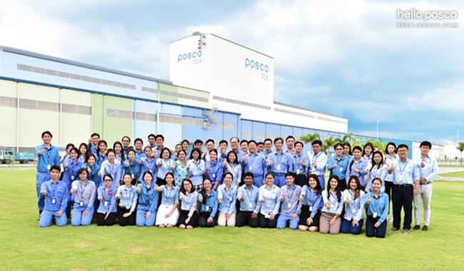 POSCO-TCS 임직원이 동남아 자동차강판시장에서 최고의 경쟁력을 확보해 POSCO the Great 재창조에 기여할 것을 다짐하고 있다.