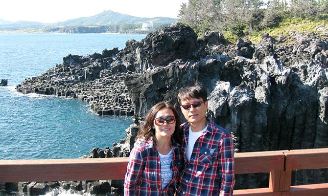아내와 찍은 사진