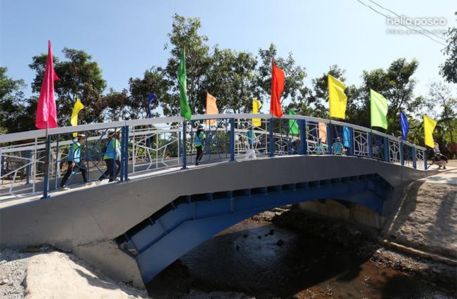 완공된 베트남 포스코 스틸브릿지