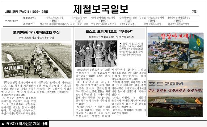 POSCO 역사신문 제작 사례