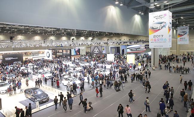 2017 서울 모터쇼의 모습.