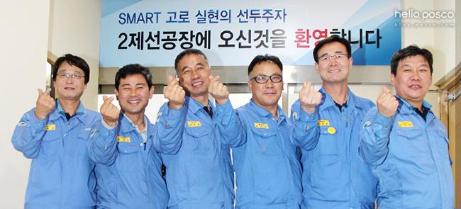 이재천, 신승호, 이우갑, 한기홍, 이병수, 김영주 님(왼쪽부터)이 바로 영광의 주인공 사진