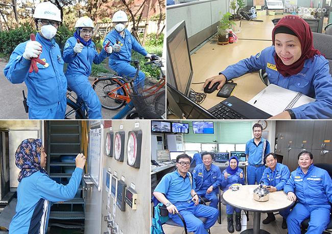 화성시험실에서 동료들과 일하는 디아 님의 모습들