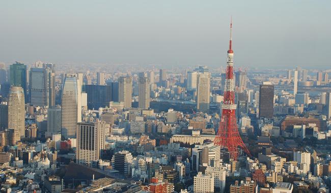 대표적인 메가시티로 꼽히는도쿄 시내 전경
