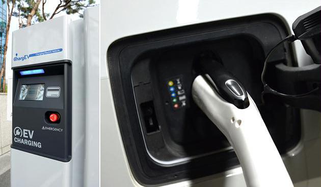 포스코ICT의 전기차 충전기 모습