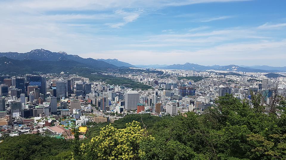 남산서울타워에서 바라본 서울 시내 풍경