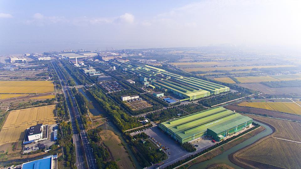 일관생산 100만 톤 체제를 완성한 장가항포항불수강 전경