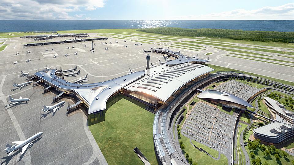 인천공항 제2여객터미널 풍경.
