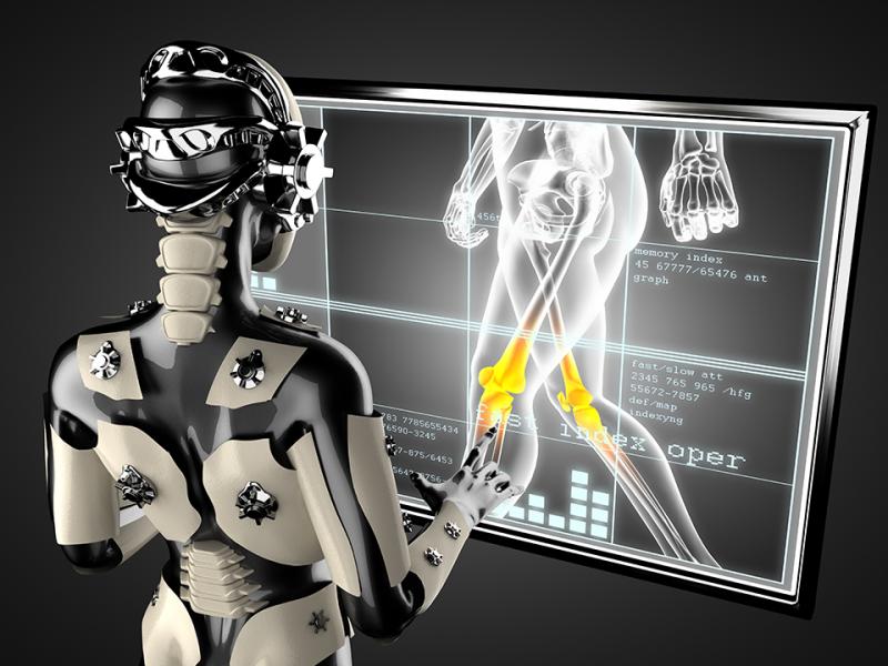 로봇이 의료에 활용되는 모습.
