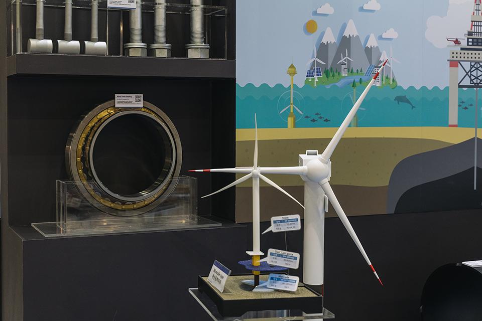 포스코가 개발한 풍력 타워용 베어링 소재 포스윈드(PosWIND)
