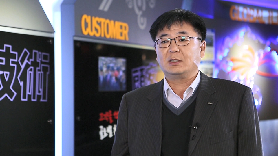 김근배 포스코 자동차소재마케팅실 리더가 일지테크와의 스마트솔루션 추진에 대해 설명하고 있는 모습