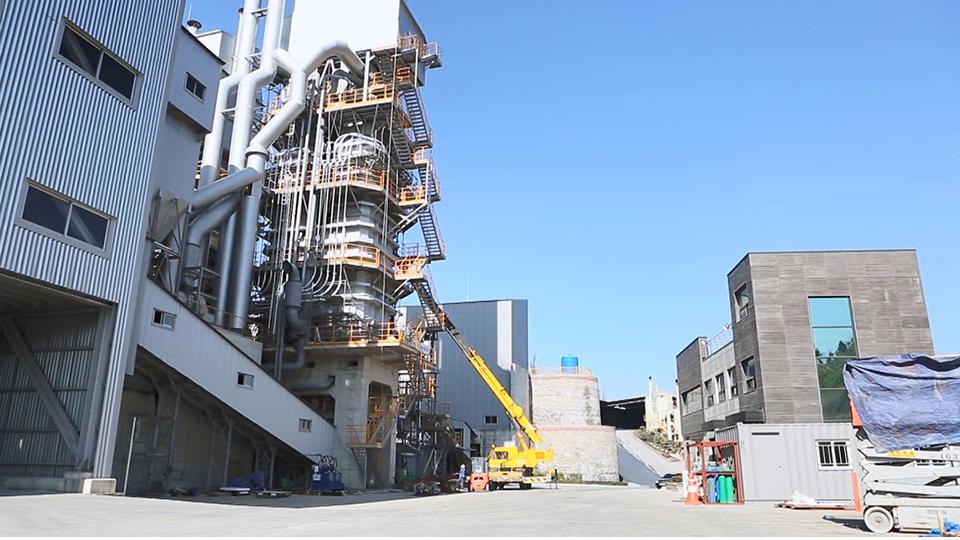 대성MDI의 백운석·석회석 생산 공장 전경