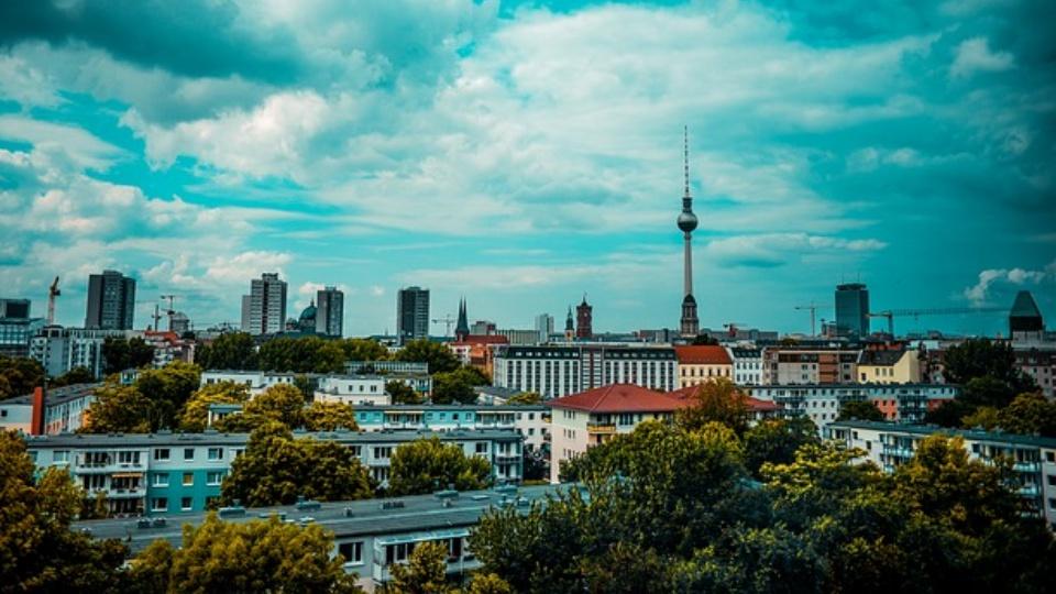 Berlin TV Tower overlooking the city