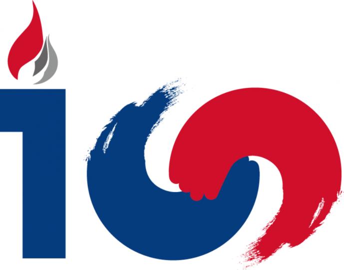 100주년 기념사업 공식 엠블럼 (출처: 3·1운동 및 대한민국임시정부 수립 100주년 기념사업추진위원회)