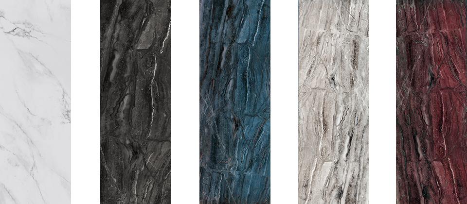 포스코강판의 신제품 '포스아트 마블(PosART Marble)'은 철과 유리를 접합하여 친환경성과 경도를 모두 잡았다. (출처: 포스코강판)